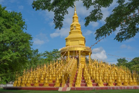 Pagoda in Sawang-Bun temple, Saraburi province Thailand. Stock Photo