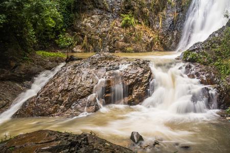 Huai-To Waterfall in famous Krabi seaside town, Thailand. Stock Photo