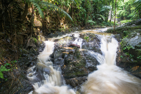 Huai-To Waterfall in famous Krabi seaside town, Thailand. Stock Photo