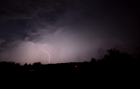 lightening: Lightening storm in the night
