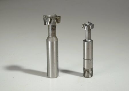 Two different milling tools for the making of T-grooves