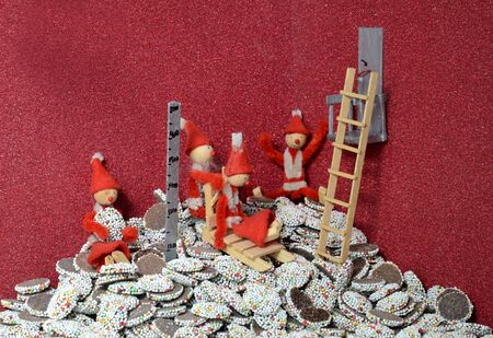 Pixie gang has gained access to a vault full with chocolate christmas buttons.