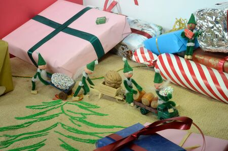 PIxie gang on a robbery mission between christmas parcels.