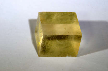 A cubic piece of crystalline Doppelspat.