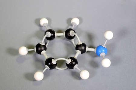 Molecule model of Aniline Stockfoto