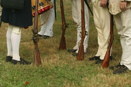 Reviewing the Troops--Revolutionary War Reenactment photo