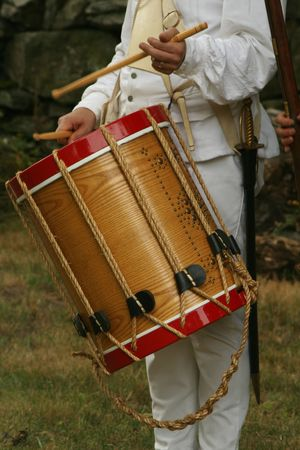 Colonial Drummer--Revolutionary War Reenactment photo