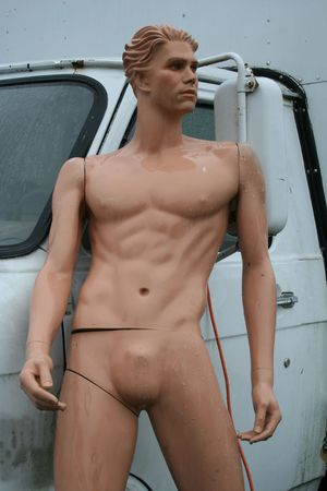 naked statue: Naked Van Man