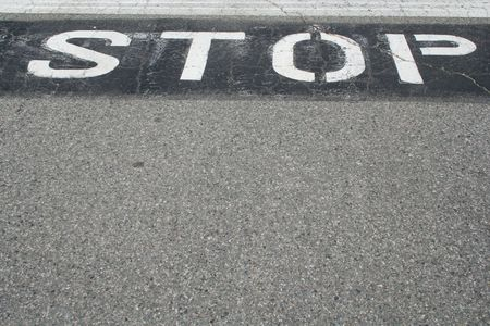Stop Sign on the Pavement