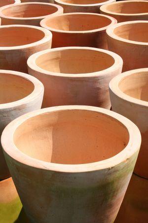 cotta: Terra Cotta Pots Stock Photo
