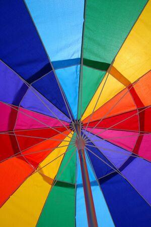 ombrellone spiaggia: Ombrellone Abstract  Archivio Fotografico