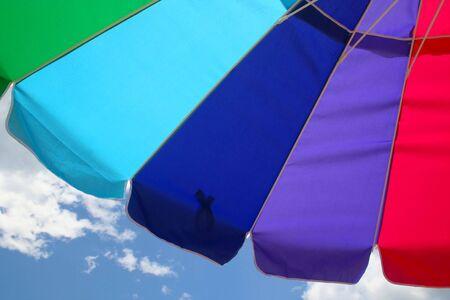 Beach Umbrella and Sky Imagens - 475997