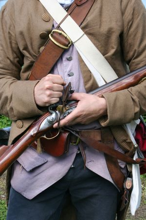 Colonial Militiaman Stock Photo