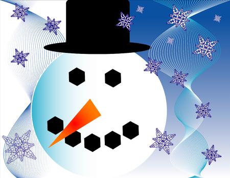 雪だるま  イラスト・ベクター素材
