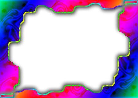 uneven edge: Colorful Irregular Frame Stock Photo