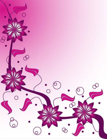 edges: Pink Champagne Illustration