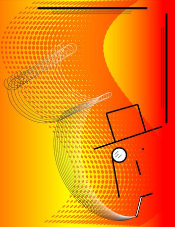 Monocle Man Ilustrace