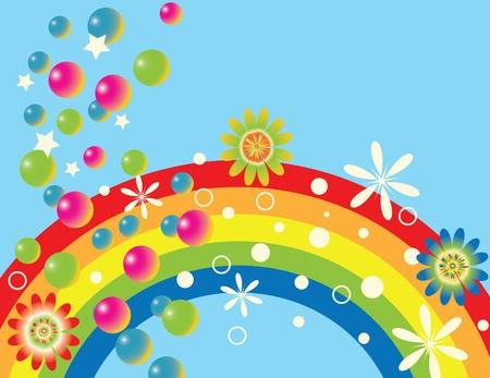 Rainbow Gala Stock Vector - 3337240