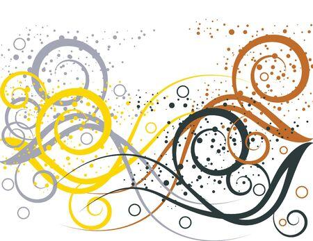 Spatter Swirl Illustration