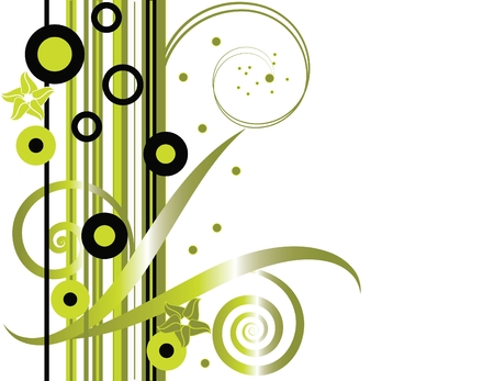 Trendy Green Floral 向量圖像
