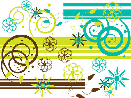abstract flowers: Green with Envy Illustration