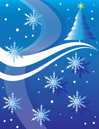 Christmas Tree Hill Stock Vector - 3547755