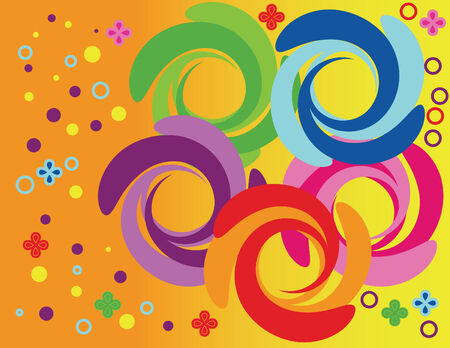 Happy Pinwheel Party Illustration