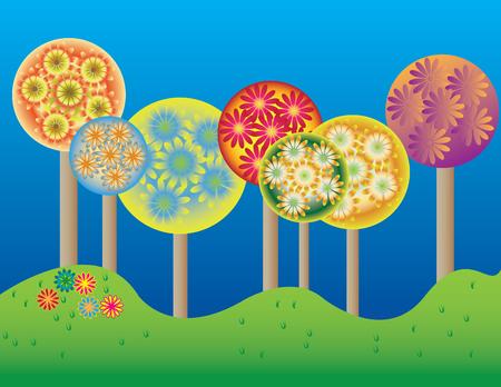 Flowering Trees Ilustração