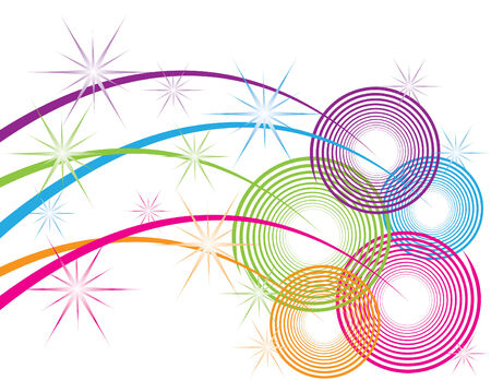 Sparkle Spirals Stock Vector - 3580407