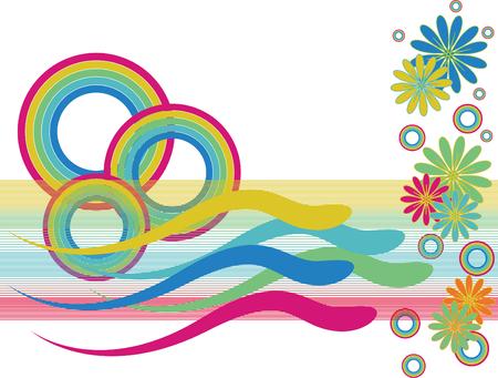 Rainbow Circle Swimmers Иллюстрация