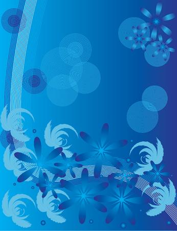 Blue Floral Frolic 向量圖像