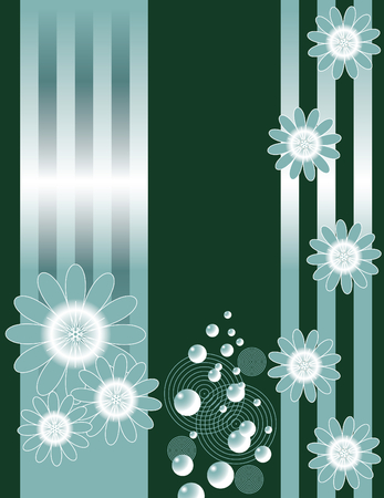 bubbly: Bubbly Metallic Floral Illustration