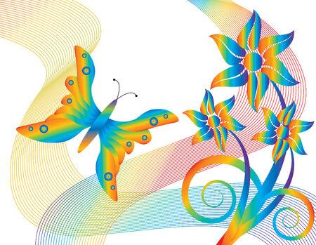 rainbow abstract: Rainbow Garden