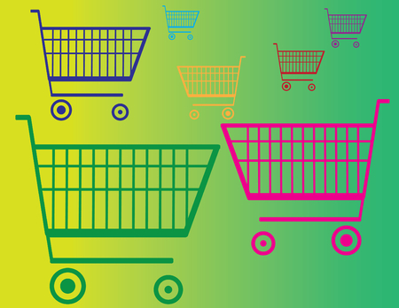 Shopping Carts Stock Vector - 3913238