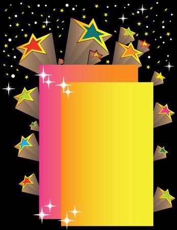 Vintage Star Presentation Illustration