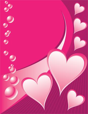 Valentine Bubbles Illustration