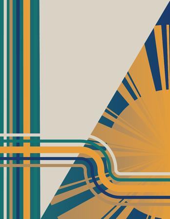 graphic illustration: Art Deco Sunburst Background