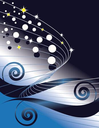 Sparkling Swirl Illustration