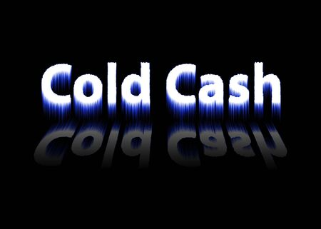 cash: Cold Cash Reflected Stock Photo