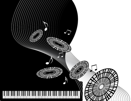 Piano Music Stock Vector - 4739261