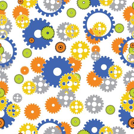 Seamless Gear Background Ilustrace