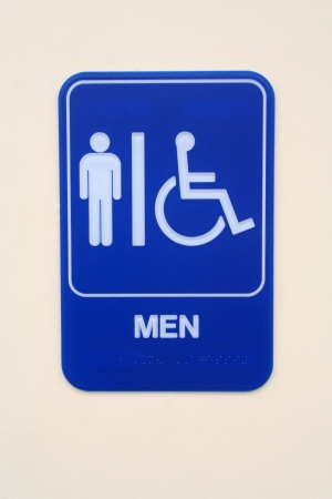Mens Room Sign photo