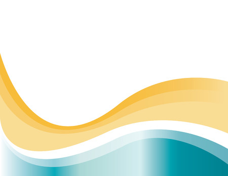 砂と海  イラスト・ベクター素材