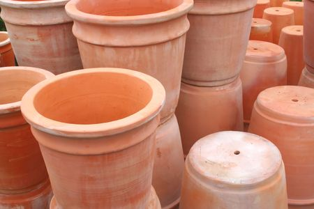 Terra Cotta Pots Stock Photo