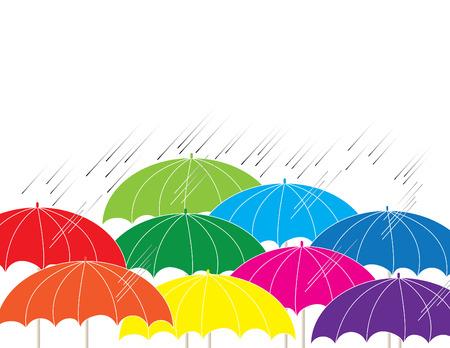 rainstorm: Rainbow    Illustration