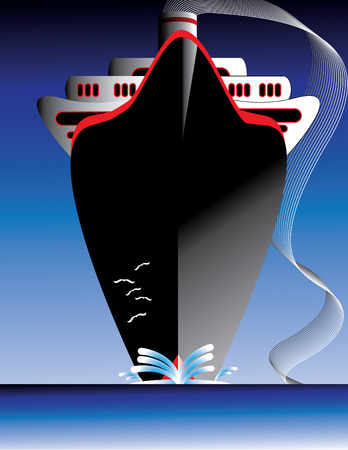 luxury travel: Oc�ano de l�nea Vectores
