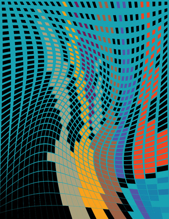 Mosaic Ripple Vector