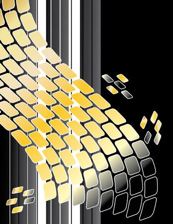 Golden Tech Abstract Vector