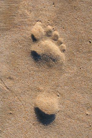 Beach Print Stock Photo - 5320732
