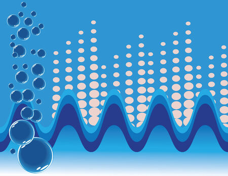 Waves and Bubbles Stock Vector - 5339256